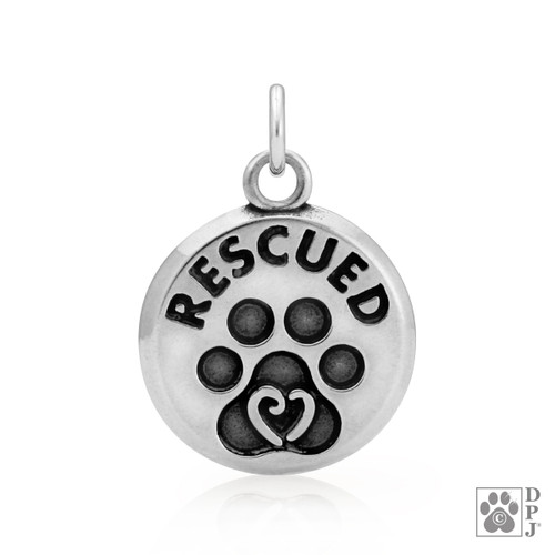 Rescued -  charm/pendant - recycled .925 Sterling Silver