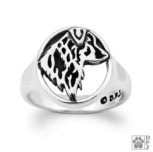 Ring - Australian Shepherd - .925 Sterling Silver