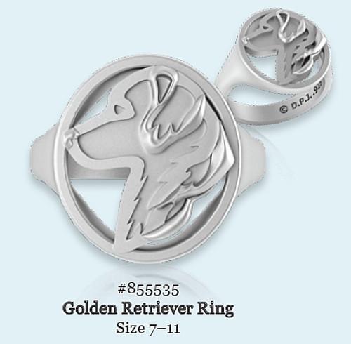 Ring - Golden Retriever - 925 Sterling Silver