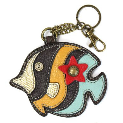 Tropical Fish - Keyring/Bag Charm  with zipper coin purse