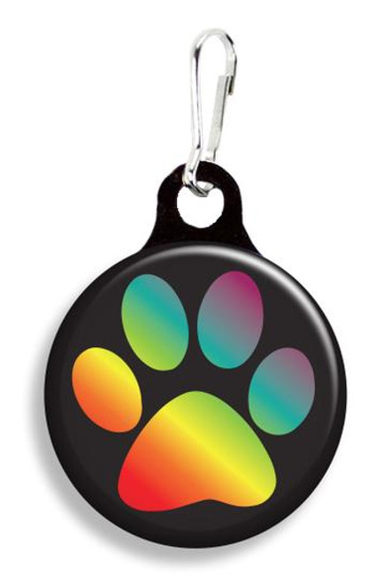 Collar Charm - Rainbow Paw / Pride - for Dogs or Cats - Franny B Good