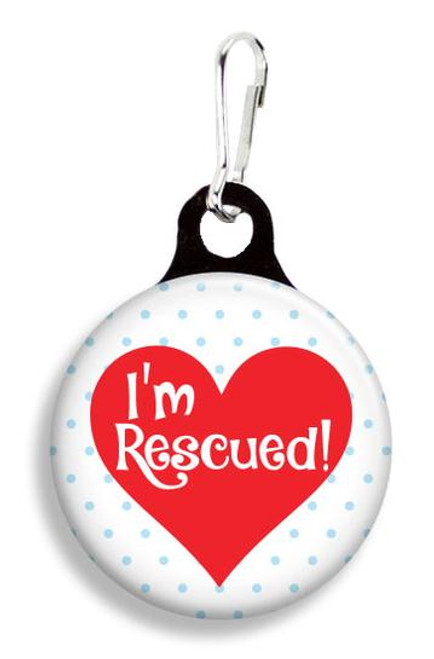 Collar Charm - I am rescued - for Dogs or Cats - Franny B Good