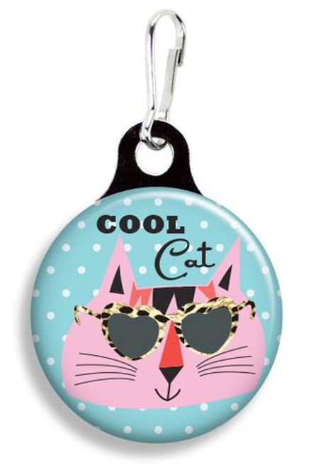 Collar Charm - Cool Cat - Pet tag - Franny B Good