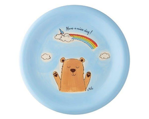 Bear Plate - hand painted - ceramic - Mila