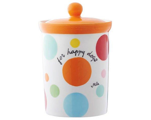 Pet Food Container - For Happy Dogs - Ceramic - hand painted - Mila