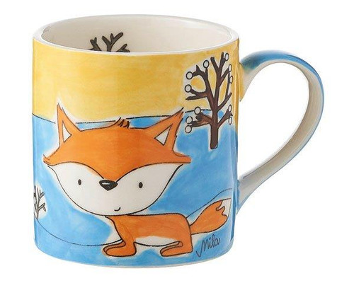 Little Foxy Mug for Children - 180 ml - hand painted - ceramic - Mila