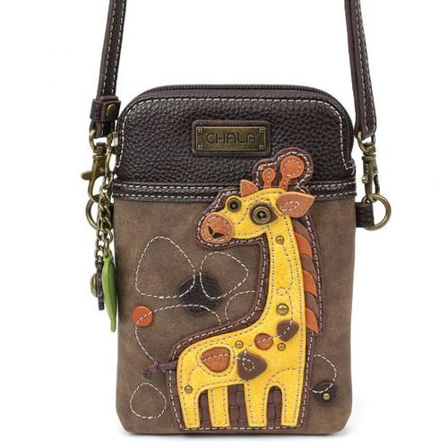 Giraffe -Small Phone / Xody Bag - Brown - Faux Leather