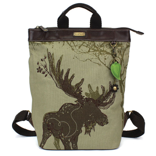 Moose - Backpack - Safari Olive - Canvas/Faux Leather