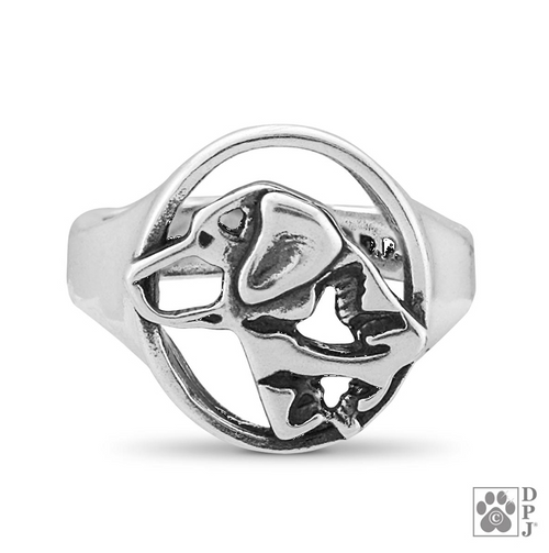 Labrador Retriever Ring - .925 Sterling Silver