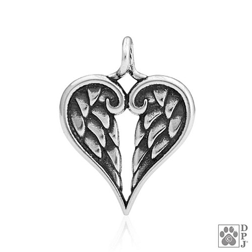 Healing Angel pendant - 925 recycled Sterling Silver