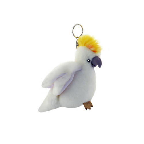 Cockatoo key charm - stuffed animal - 12 cm
