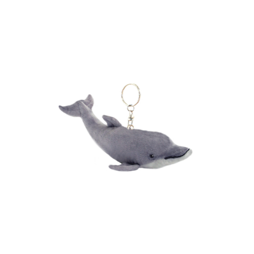 Dolphin key charm - stuffed animal - 12 cm