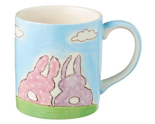 Bunnies - Mug for Children - 180 ml - hand painted - ceramic - Mila