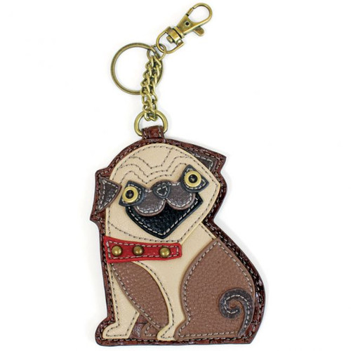 Pug Key Charm front view