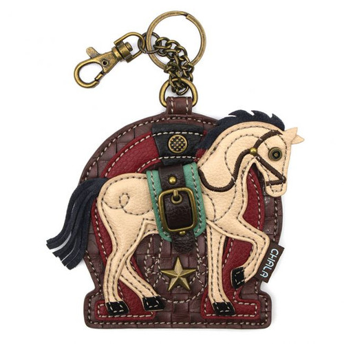 Horse - Keyring/Bag Charm  with zipper coin purse