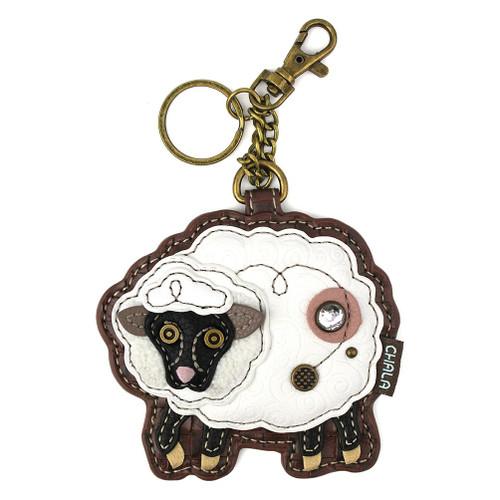 Sheep - Keyring/Bag Charm  with zipper coin purse