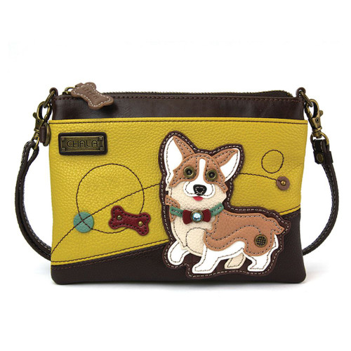 Corgi - Mini Cross Body Bag - Mustard - Faux Leather