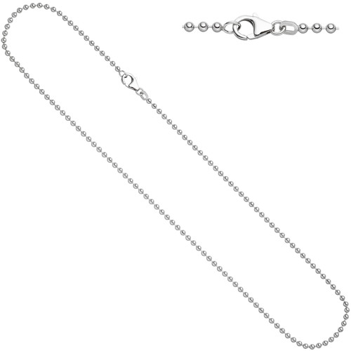 Ball chain - 1 mm - 50 cm - 925 Silver