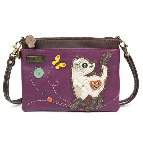 Slim Cat - Mini Cross Body Bag - purple - Faux Leather