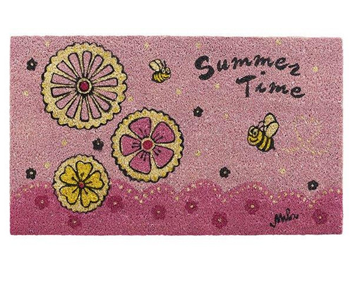 Mila Doormat - Summertime - cocos fibres/PVC backing - 73 cm x 43 cm