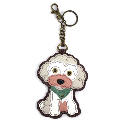 Poodle - Keyring/Bag Charm  with zipper coin purse