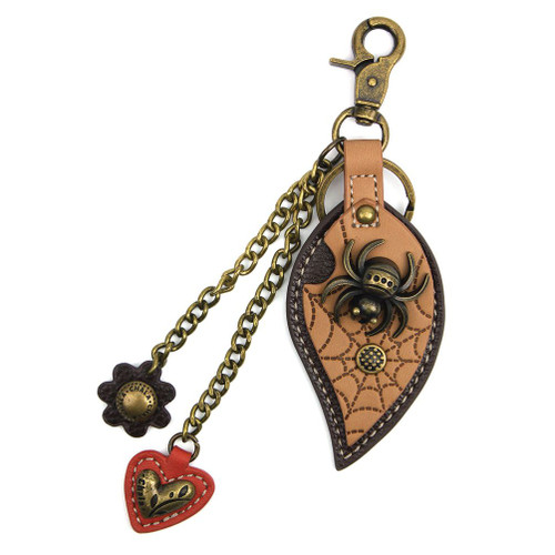 Spider - Key Chain/ Bag Charm - bronze metal