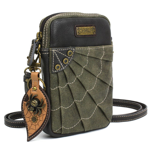 Spider - Sweb - Origami Phone Xbody Bag - Olive - Canvas/Faux Leather