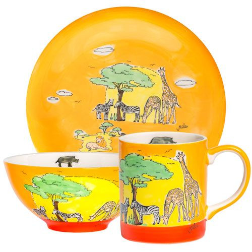 Africa - Tableware - hand-painted ceramics - ISO certified