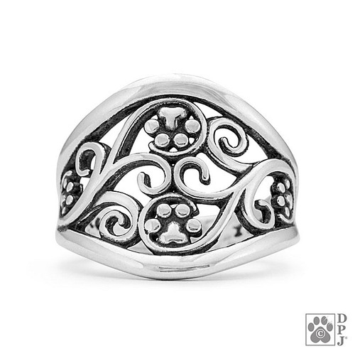 Journey Paws - solid recycled .925 Sterling Silver - made in USA