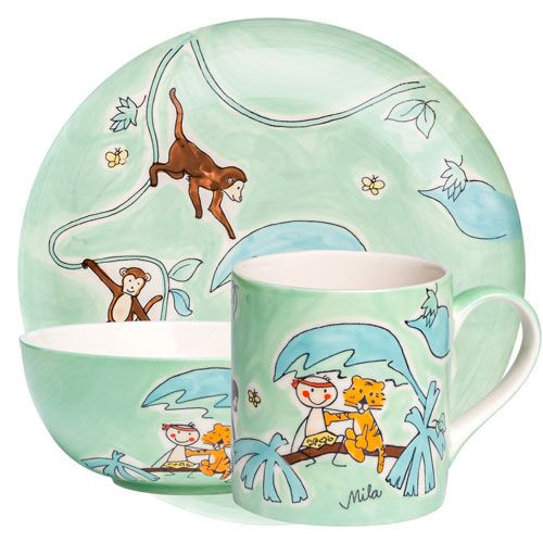 Tarzan - Tableware for Kids - hand-painted ceramics - ISO certified
