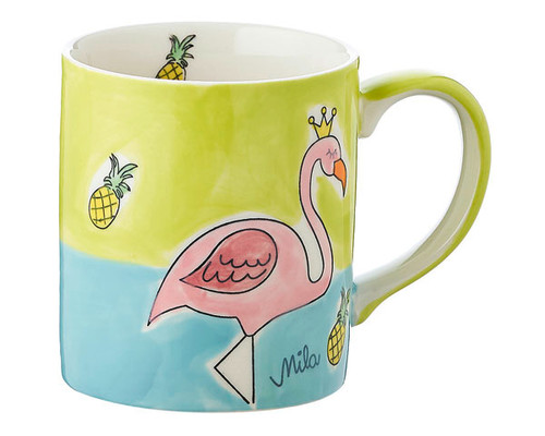 Flamingo Mug - 280 ml - hand-painted ceramic
