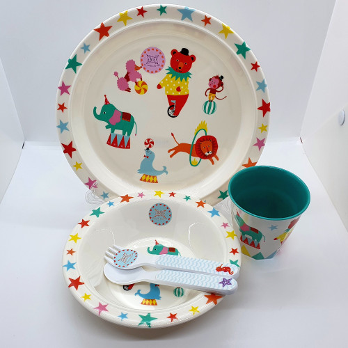 Circus - Melamine Tableware Set for Kids - BPA and Phthalates free
