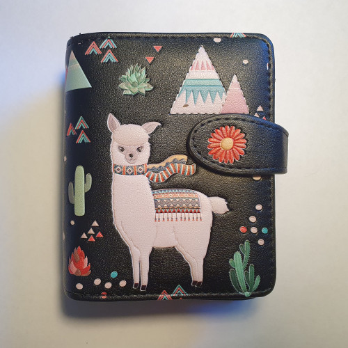 LLama - Small Wallet - black - Faux Leather