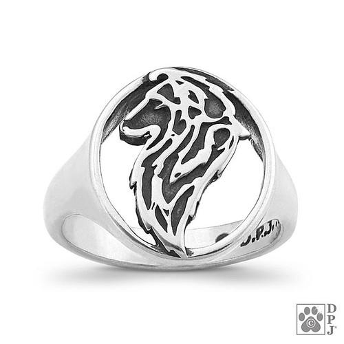 Ring - Shetland Sheep Dog - Sheltie - .925 Sterling Silver