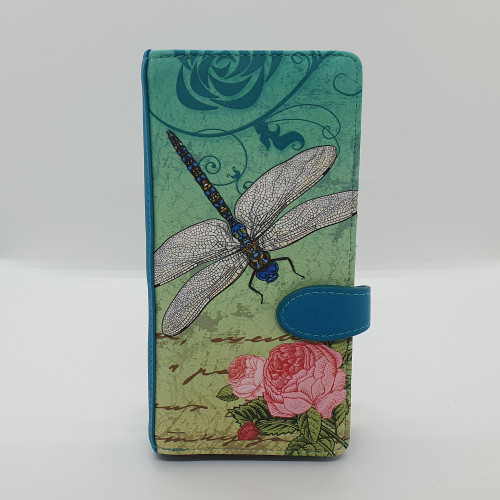 Vintage Dragonfly - Large wallet - Teal - Faux Leather