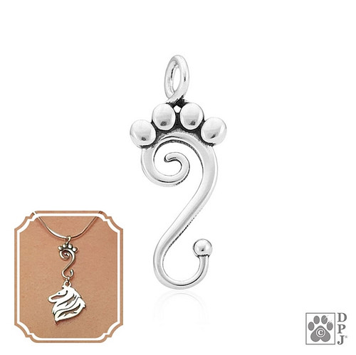 Pawtner for Life charm Holder - recycled .925 Sterling Silver