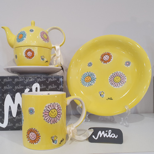 Let the Sunshine in - Tableware - yellow - hand-painted ceramics - ISO certified