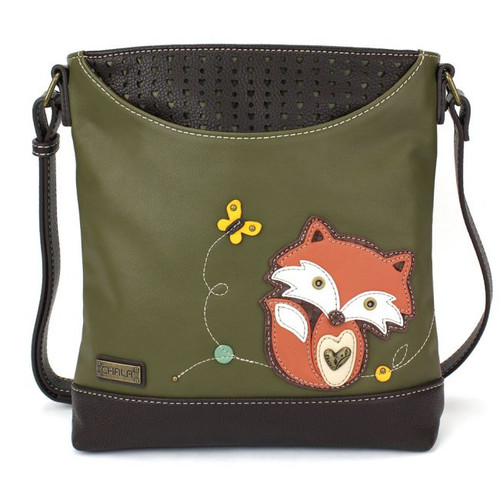 Fox - Sweet Messenger Bag - Olive - Faux Leather