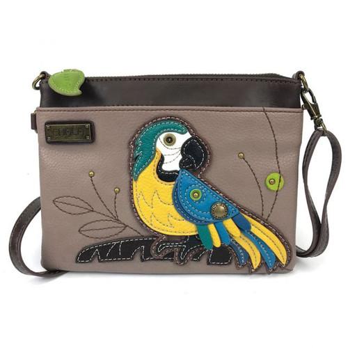 Blue Parrot - Mini Cross Body Bag - grey - Faux Leather