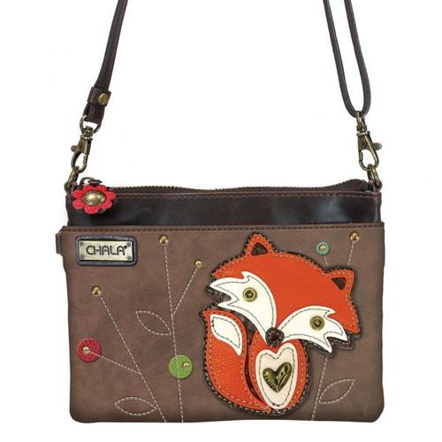 Fox - Mini Cross Body Bag - brown - Faux Leather