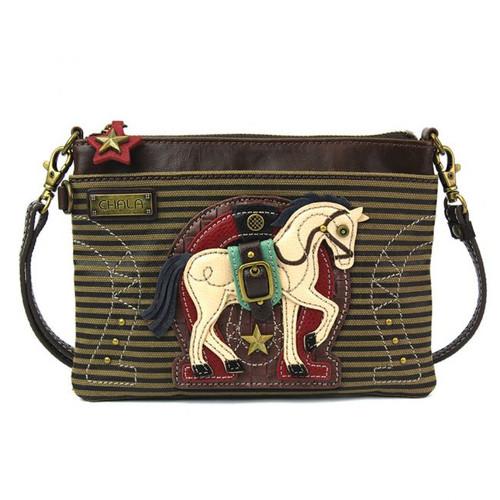 Horse - Mini Cross Body Bag -  - Faux Leather