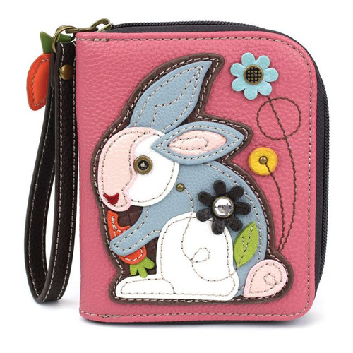 Rabbit - Zip-Around Wallet - Pink - Faux Leather
