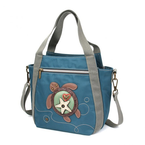 Turtle Mini Carry-all Bag - RFID protected - Turquoise