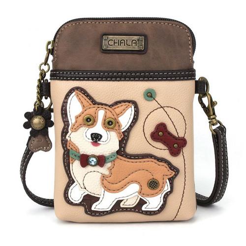 Corgi - Small Phone /XBody Bag - Ivory - Faux Leather