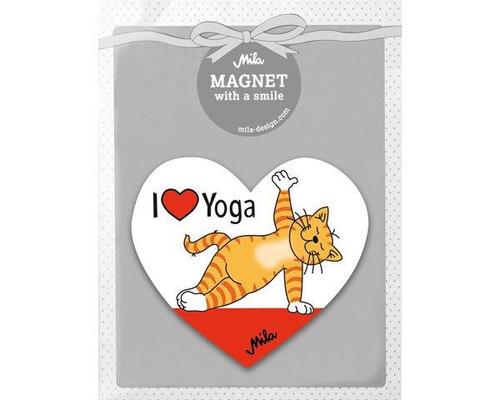 Magnet - Ginger Cat - I love Yoga