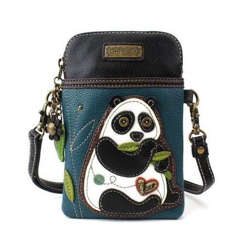 Panda - Small Phone /XBody Bag - Turquoise - Faux Leather