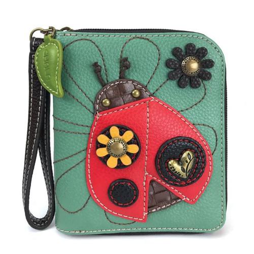Ladybug - Zip-Around Wallet - Teal - Faux Leather