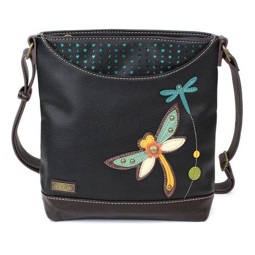 Dragonfly - Sweet Messenger Bag - Black - Faux Leather