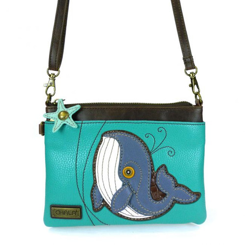 Whale - Mini Cross Body Bag - Blue - Faux Leather