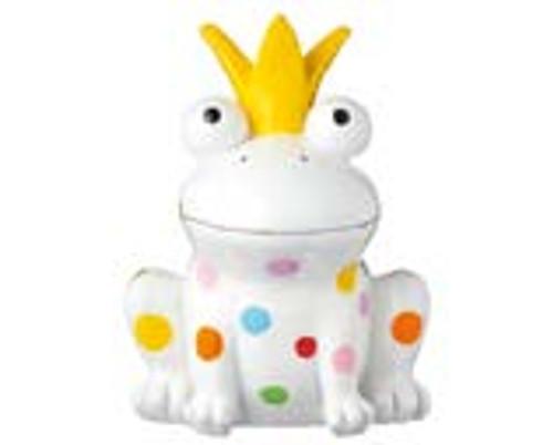 Décor Figure - Happy King Frog - 19 cm - Polyresin - Indoor - Outdoor